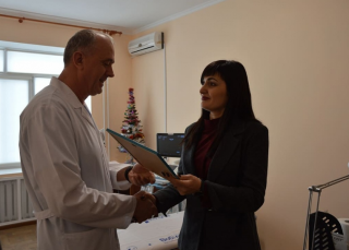 Найсучасніший апарат УЗД – найкращий новорічний подарунок від міської влади для Кропивницької лікарні швидкої медичної допомоги