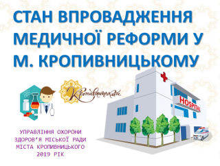 Медична реформа у Кропивницькому: цифри й факти