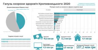 Бюджет медицини Кропивницького 2020 (ІНФОГРАФІКА)