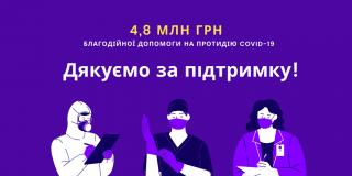 Близько 5 млн благодійної допомоги отримали медичні заклади Кропивницького для протидії COVID-19